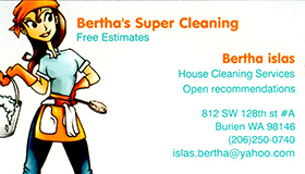 Bertha's Super Cleaning